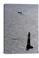 XH558 Over The Lighthouse, Canvas Print