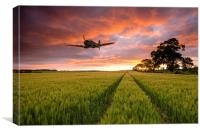 Spitfire Country, Canvas Print
