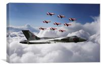 In Formation With XH558, Canvas Print