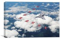 Big V Formation, Canvas Print