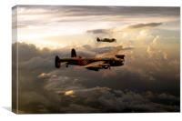 RAF Lancaster and Spitfire, Canvas Print