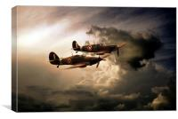 WW2 Front Line Fighters, Canvas Print