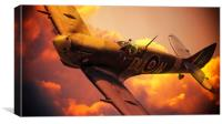 Czech Spitfire, Canvas Print