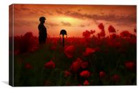 A Field Of Heroes, Canvas Print