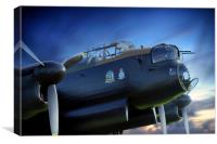 Lancaster Bomber City of Sheffield, Canvas Print