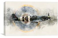 Spitfire AB910 - Painting, Canvas Print