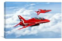 Red Arrows Roll Round, Canvas Print