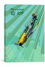 Messerschmitt Bf 109 Pop Art, Canvas Print