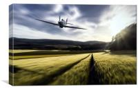 Hurricane Low Flight, Canvas Print