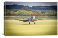 Spitfire MH434 Takes Off, Canvas Print
