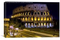 Colosseum Lights, Canvas Print