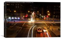 Midnight streets of New York, Canvas Print