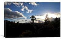 Sunset Crater, Canvas Print