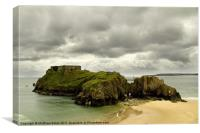 St Catherines Island, Tenby, Canvas Print