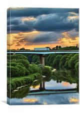 River Don Sunset, Canvas Print