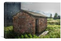 Old Brick Shed HDR, Canvas Print