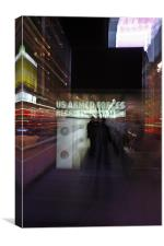 Times Square By lights = chaos, Canvas Print