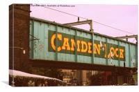Camden Lock Bridge, Canvas Print