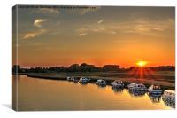 Acle Sunset, Canvas Print