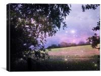 The Night has a Thousand Eyes., Canvas Print