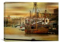 Shipshape and Bristol Fashion., Canvas Print