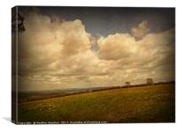 Clouds Over Blagdon Lakes., Canvas Print