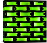 Green Beer Bottle Wall, Canvas Print