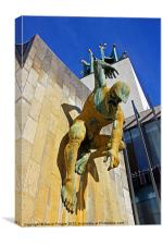 River God Tyne Sculpture III, Canvas Print