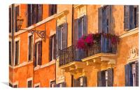 Window Boxes, Canvas Print