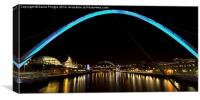 Newcastle Quayside and Sage Gateshead, Canvas Print