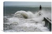 Waves Over Tynemouth Pier III, Canvas Print