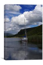Boat On Derwentwater, Canvas Print