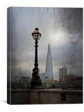 Dolphin Lampost, Canvas Print
