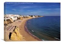 Fishermans Beach Albufeira Portugal, Canvas Print