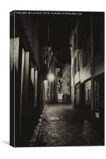 Back Street in Funchal, Canvas Print