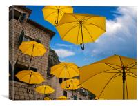 Umbrellas, Canvas Print
