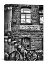One bike., Canvas Print