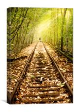 Light at the end of the line, Canvas Print