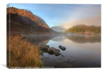 Rising mist over Llyn Dinas, Canvas Print