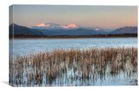 Snowdon from the cob, Canvas Print