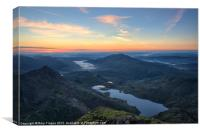 Snowdon summit view, Canvas Print