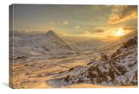 March sunset - Ogwen valley, Canvas Print