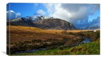 Cottage in the Ogwen valley, Canvas Print