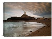 Llanddwyn lighthouse, Canvas Print