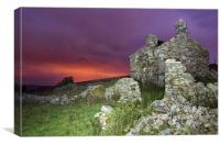 Bryn Eithin cottage, Canvas Print