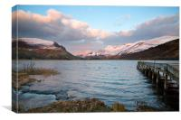 Llyn Nantlle in the middle of Winter, Canvas Print
