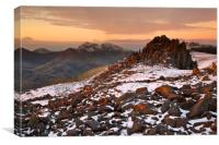 Dawn at Castell y Gwynt, Canvas Print
