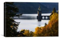 The straining tower at Lake Vyrnwy, Canvas Print