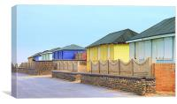 Fleetwood Beach Huts, Canvas Print