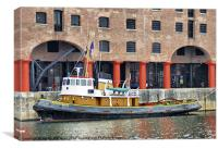 The Tug, Brocklebank, Canvas Print